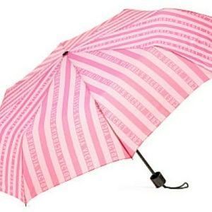 Victoria's Secret FULL SIZE Umbrella ~ Pink Stripe ~ Limited Edition~BRAND NEW